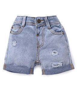 Fox Baby Plain Solid Color Shorts - Light Blue