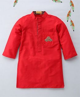 Shruti Jalan Solid Kurta With Car Zardozi Work - Red