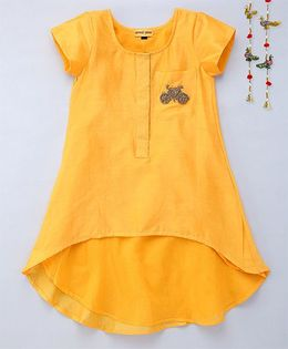 Shruti Jalan Tunic With Embroidered Zardozi Work - Yellow