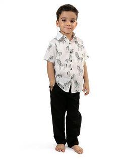 Raghav Zebra Printed Shirt - Black & White