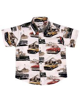 Ragahv Vintage Car Printed Shirt - Multicolour