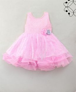 Eiora Beautiful Sparkling Dress - Pink
