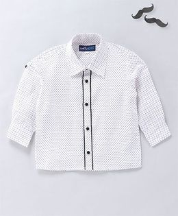 Knotty Kids Dot Print Shirt - White