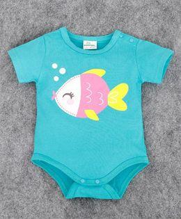 Pre Order - Superfie Fish Print Onesie - Sea Green