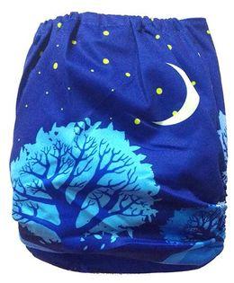 Chuddybuddy Cloth Diaper With Insert Midnight Print - Blue