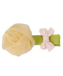 Flaunt Chic Rose Clip - Light Yellow