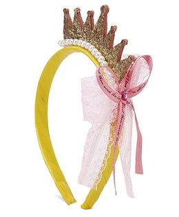 Flaunt Chic Non-teethed Resin Headband With Satin Cover - Gold
