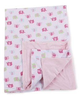 Kidi Wav Animal Print Cotton Smooth Thin Blanket - Pink