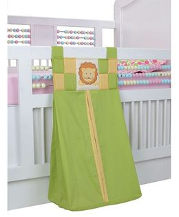 Blooming Buds Lion Printed Diaper Stacker - Green