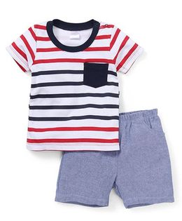 Starters By Wonderchild Patch Pocket T-Shirt & Shorts Set - Multicolour
