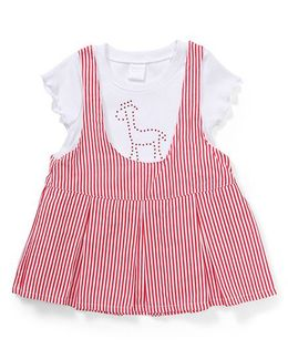 Starters By Wonderchild Attached T-Shirt Dress - White & Red