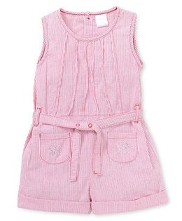 Starters by Wonderchild Sleeveless Stripe Jumpsuit - Pink