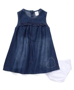 Starters By Wonderchild Denim Dress With Bloomer - Blue