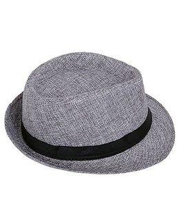 Kidofash Fedora Hat - Grey
