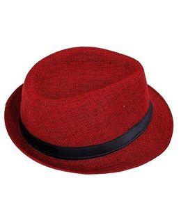 Kidofash Fedora Hat - Red