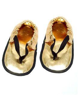 SnugOns Flip Flops Style Booties - Golden