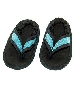 SnugOns Baby Booties With Glitter Strap - Black