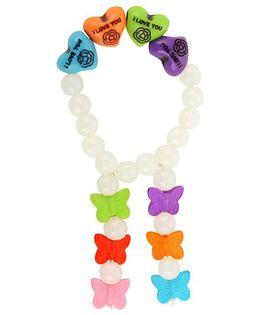 Funkrafts Girls Beads & Butterfly Bracelet - Multicolor