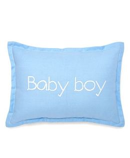 The Lion And The Fish Printed Cushion - Blue