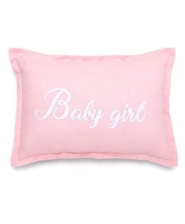 The Lion And The Fish Printed Cushion - Pink