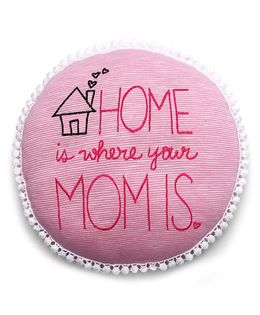 The Lion And The Fish Home Is Where Mom Is Print Cushion - Pink