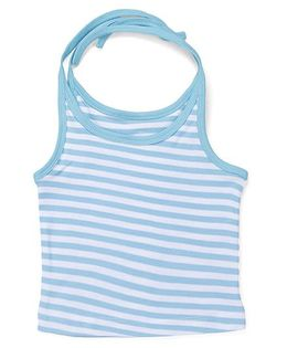 Kidi Wav Stripes Print Tying Up Jhabla - Blue