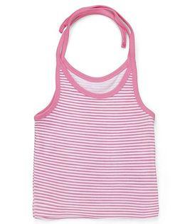 Kidi Wav Stripe Print Tie Up Jhabla - Pink