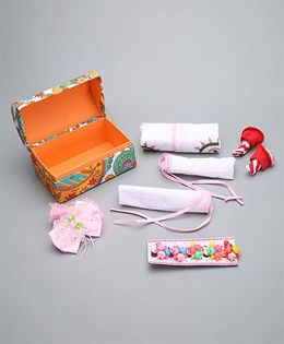Needybee 11 Pc Baby Girl Essential Gift Set For Newborn - Pink & Red