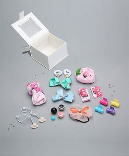 Needybee 13 Pc Baby Girl Gift Set For Newborn - Multicolour