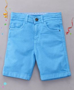 Bees and Butterflies Coloured Shorts for Boys - Sky Blue