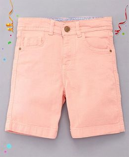Bees and Butterflies Shorts for Boys - Peach