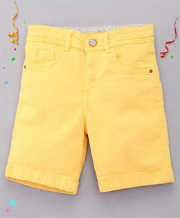 Bees and Butterflies Shorts for Boys - Yellow