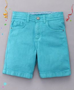 Bees and Butterflies Shorts for Boys - Turquoise