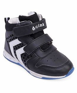 Doink Double Strap Velcro Closure Sneaker Shoes - Black