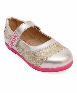 Doink Party Wear Bellies With Glittery Shine - Golden