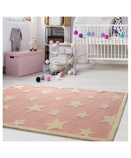 Little Looms Star Printed Rug - Pink