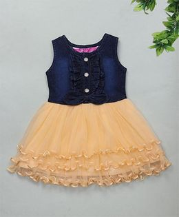 M'Princess Elegant Party Dress - Peach