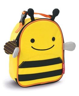 Skip Hop Mini Backpack With Rein Bee Design Yellow Black - 7.5 inches