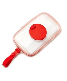 Skip Hop On-The-Go Snug Seal Baby Wipes Case - Red