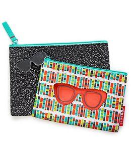 Skip Hop Forget Me Not Specs Design Pouches Set Of 2 - Multi Color