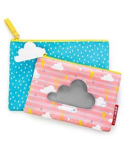 Skip Hop Forget Me Not Cloud Design Pouches Set Of 2 - Blue Pink