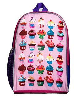 Li'Ll Pumpkins Cupcake Printed School Bag - Pink
