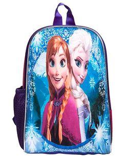 Li'Ll Pumpkins Cartoon Princess Printed School Bag - Pink & Blue