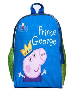 Li'Ll Pumpkins Piglet Printed School Bag - Green & Blue