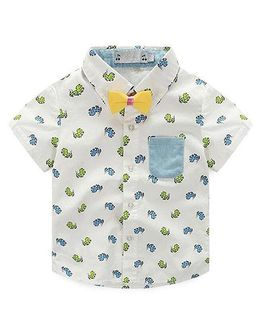 Pre Order - Lil Mantra Horse Print Shirt - White