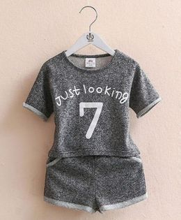 Pre Order - Mauve Collection Just Looking Top & Shorts Summer Sets - Grey
