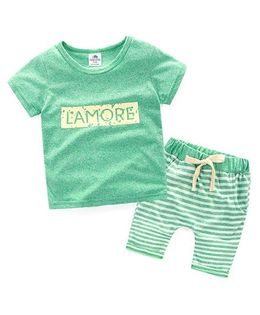 Pre Order - Mauve Collection Lamore Top & Shorts Unistyle Summer Set - Green