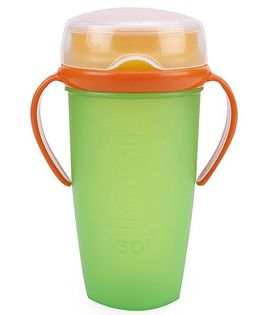 Lovi 360 Cup With Handles Active Green - 350 ml
