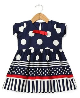 Tia'S Closet Polka Dot Dress - Blue