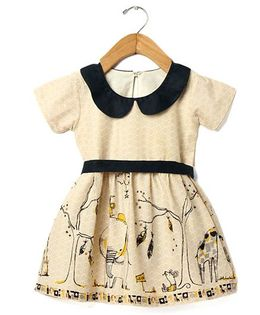 Tia'S Closet Zoo Boo Dress - Beige